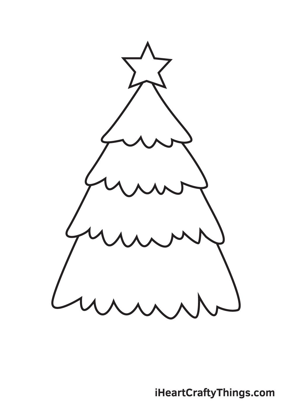 christmas stuff drawing step 5