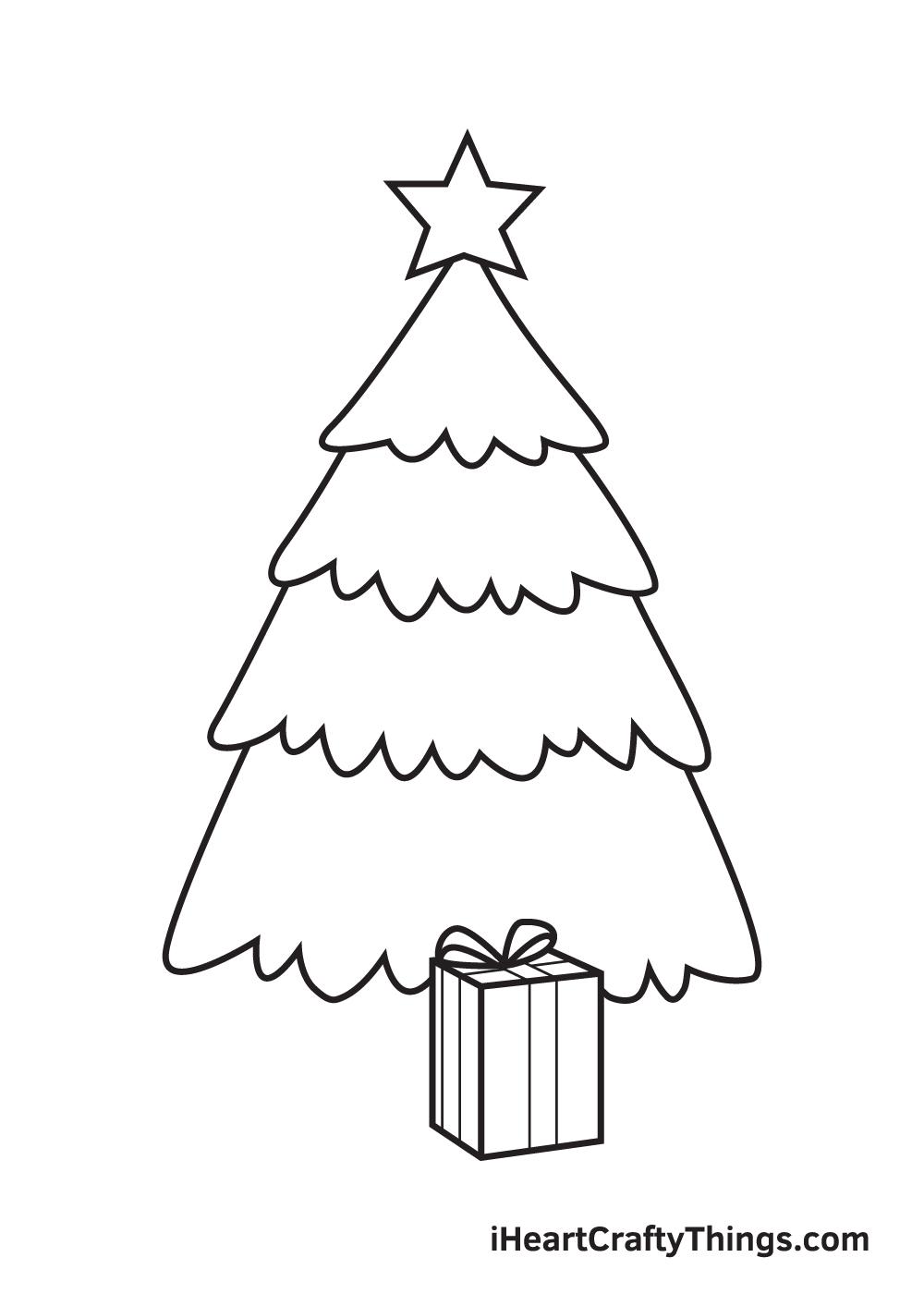 christmas stuff drawing step 6
