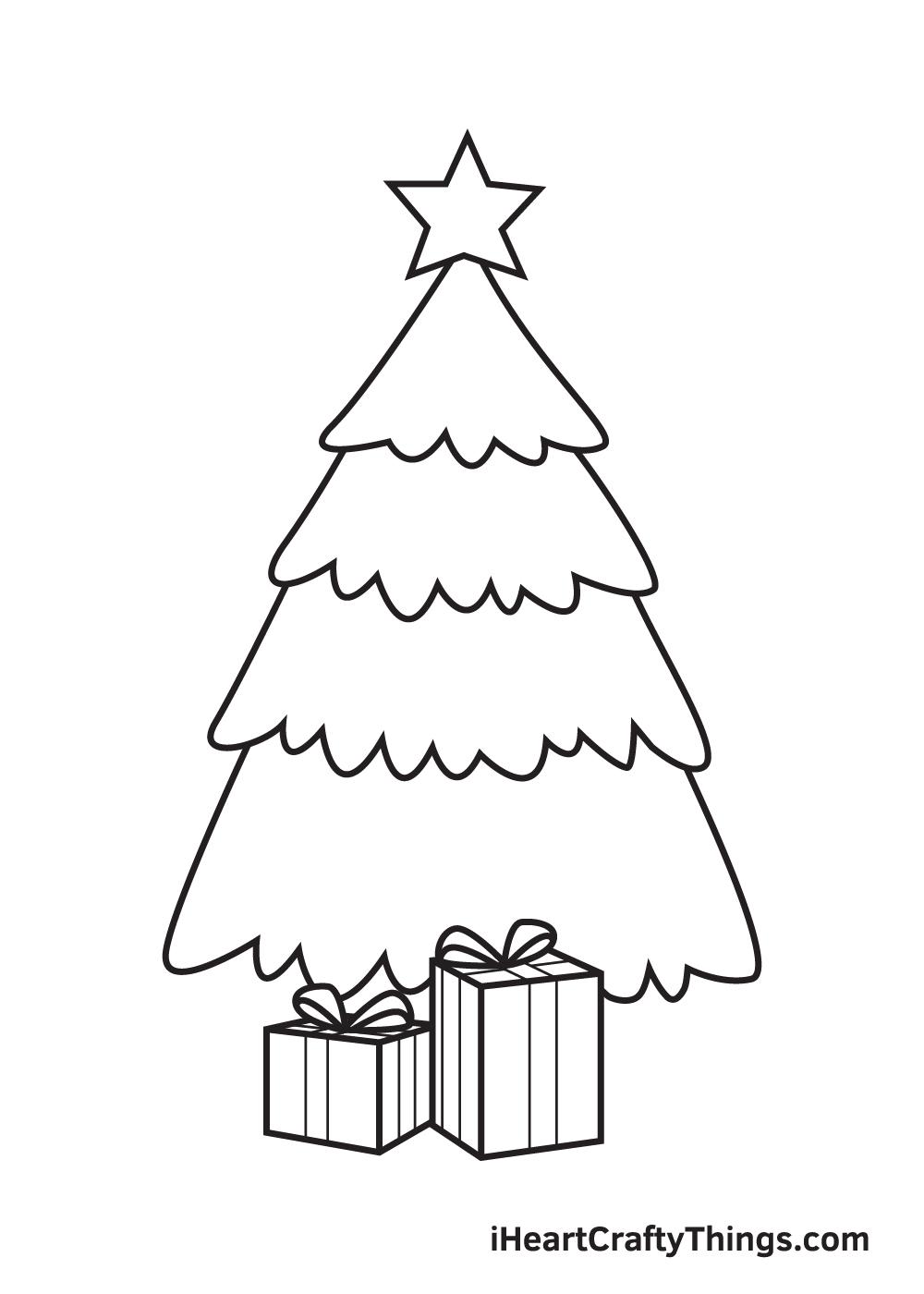 christmas stuff drawing step 7