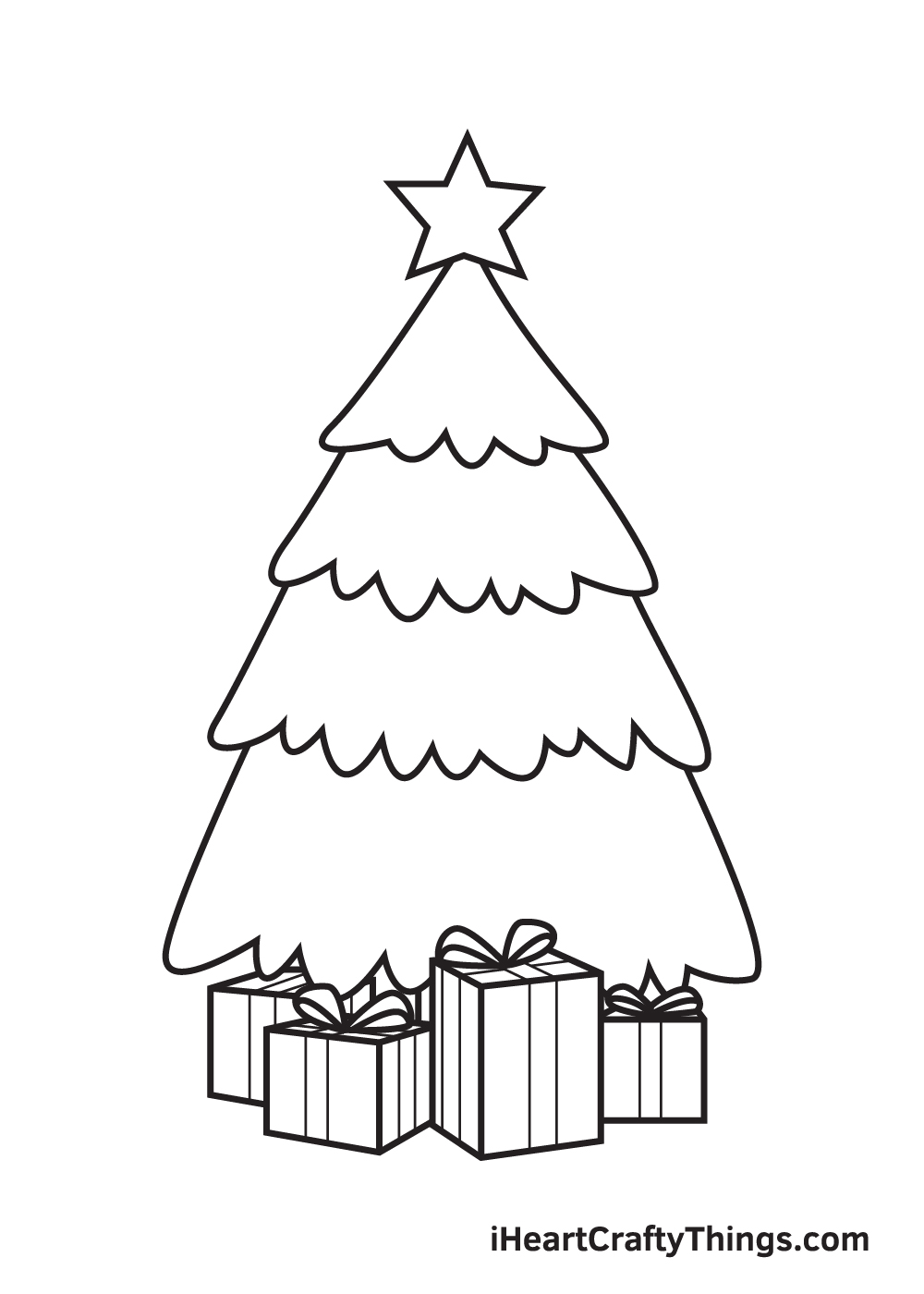 christmas stuff drawing step 8