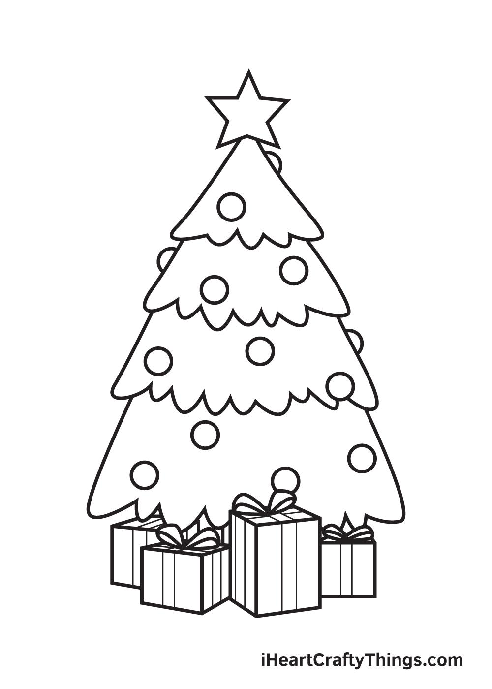 christmas stuff drawing step 9
