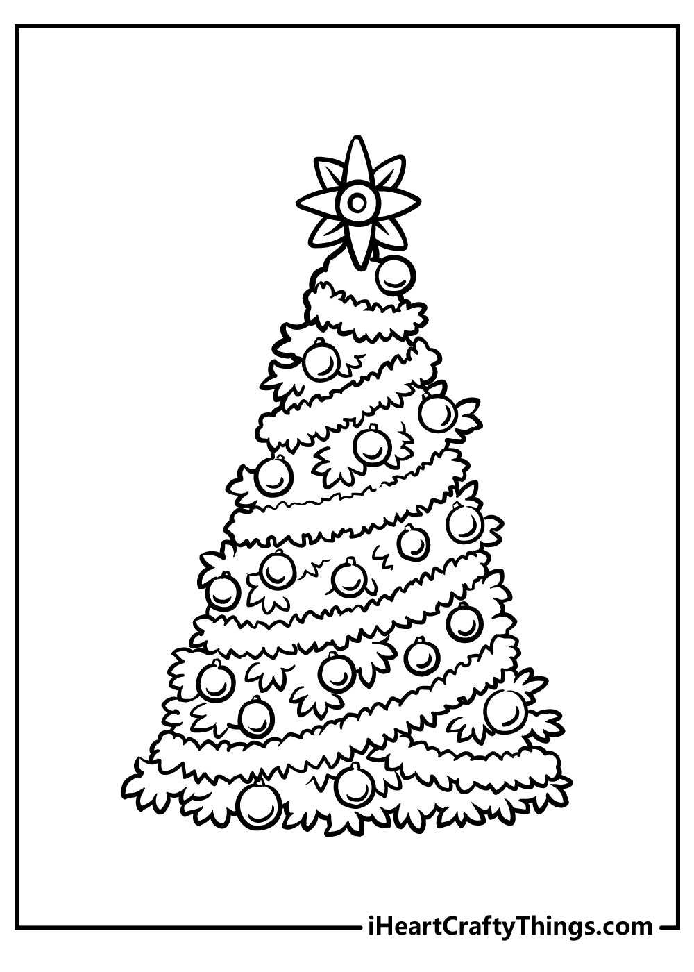christmas tree coloring pages online free
