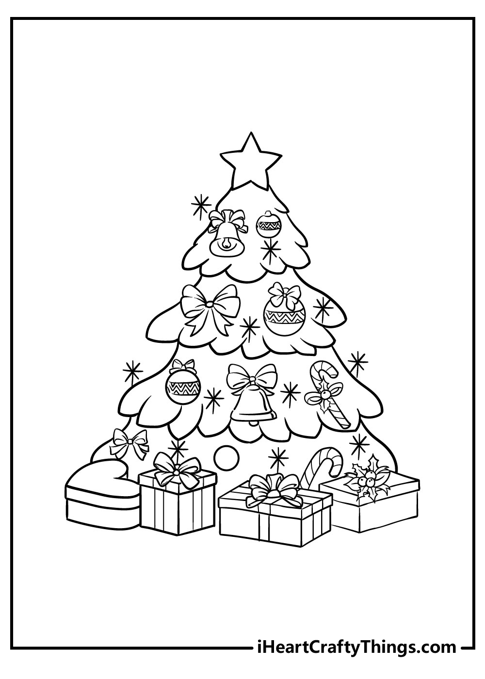christmas tree coloring pages that you can print