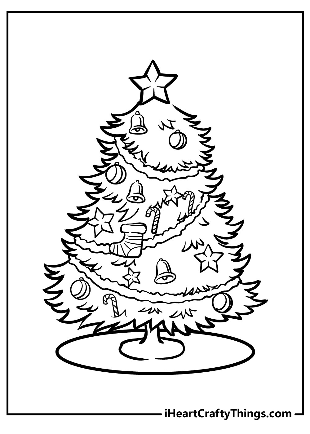 holiday christmas tree coloring pages free download
