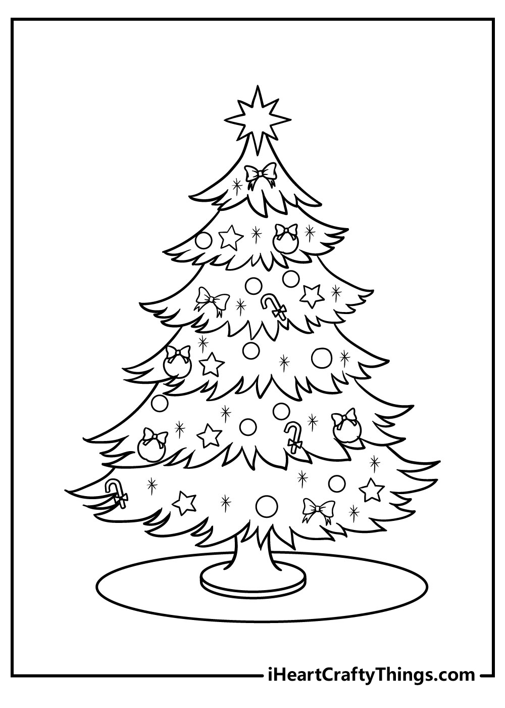 intricate christmas tree coloring pages free printable