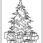 christmas tree coloring images free printable