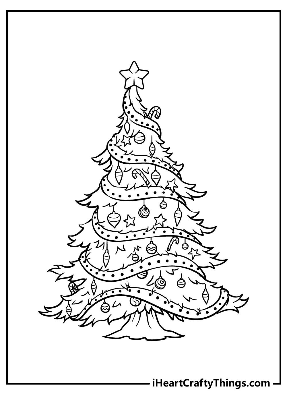 small christmas tree coloring pages free download