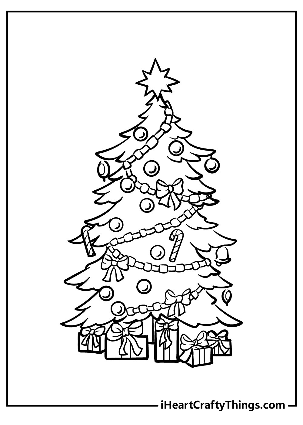 christmas tree coloring pages freepdf download