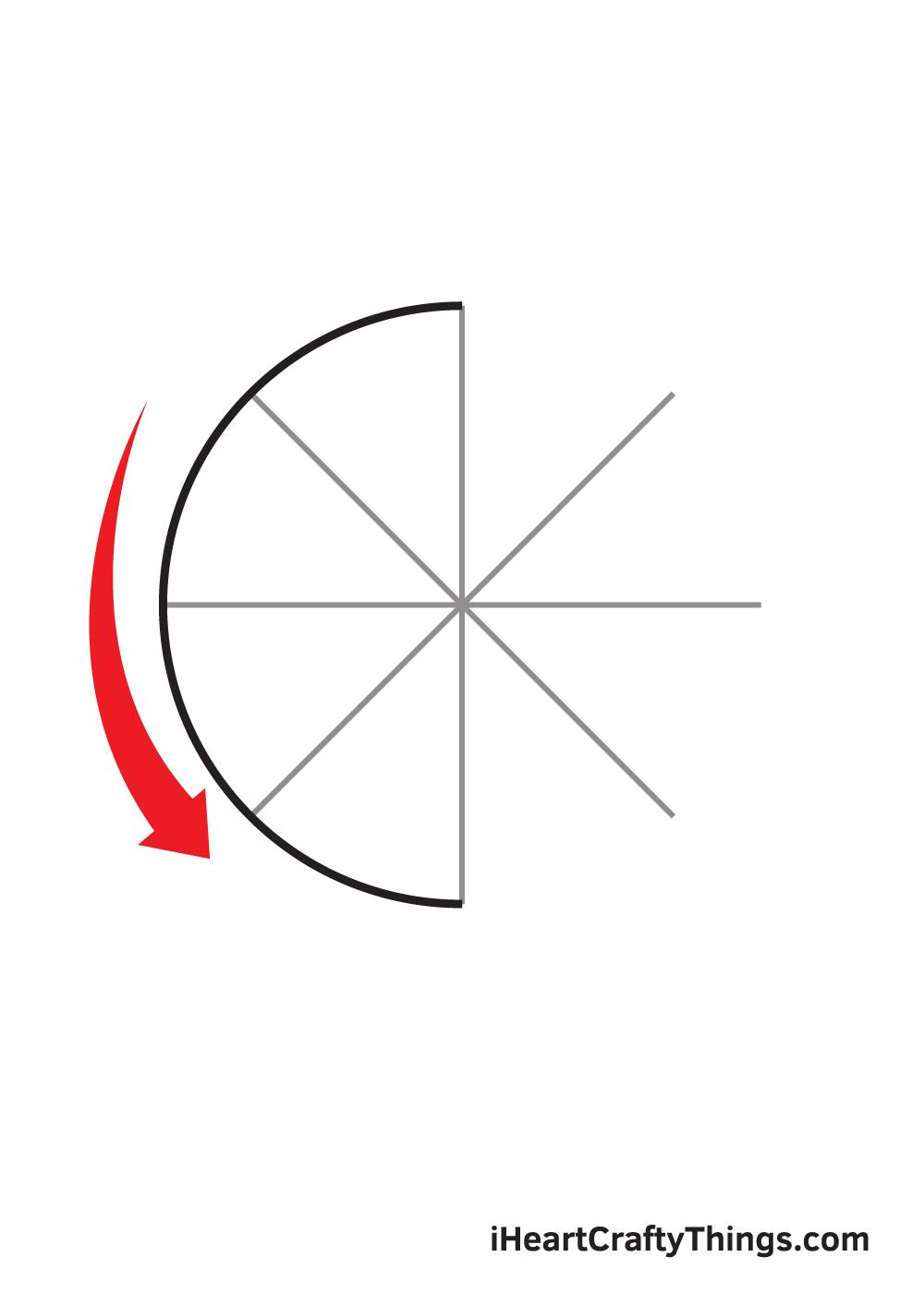 circle drawing step 7