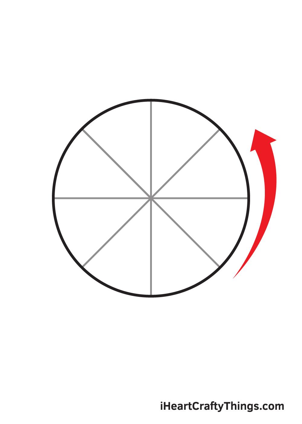circle drawing step 8