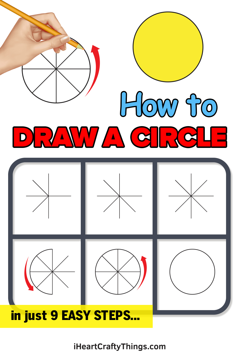 how to draw a circle in 9 easy steps