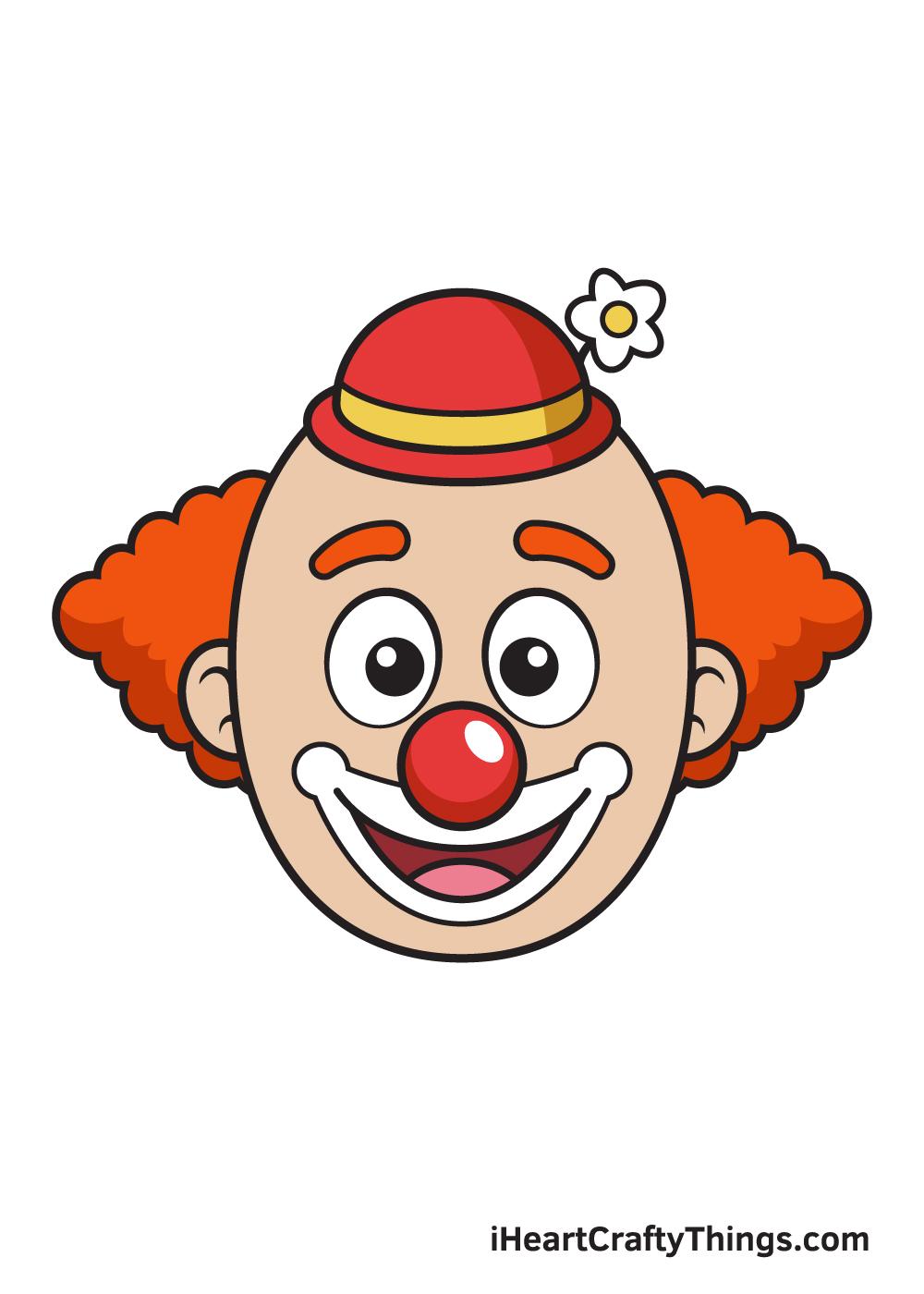 clown drawing 9 steps