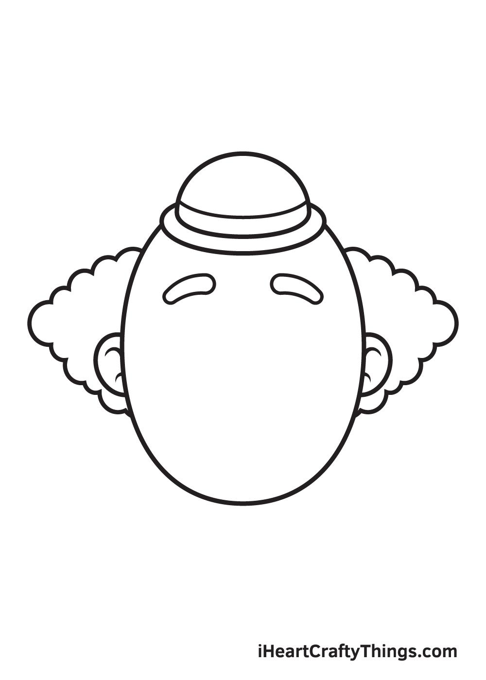 clown drawing step 5