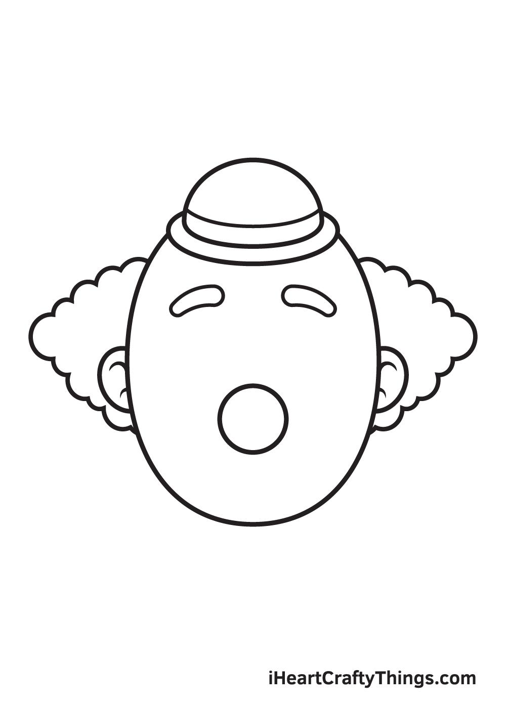 clown drawing step 6