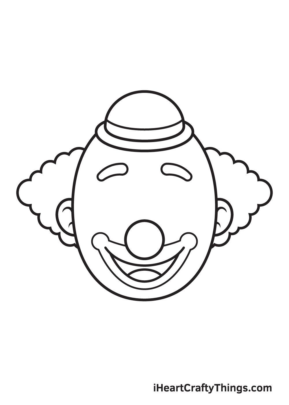clown drawing step 7
