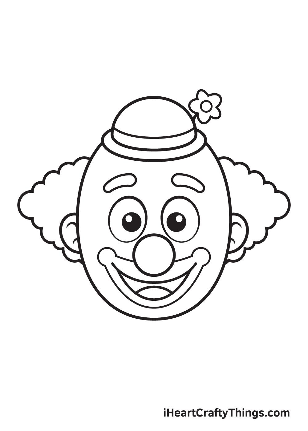 clown drawing step 9