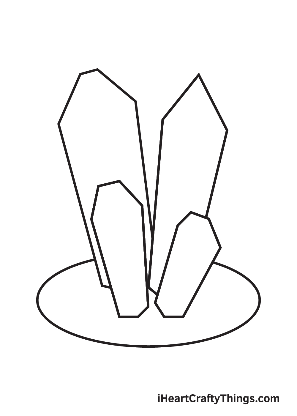 crystals drawing step 5