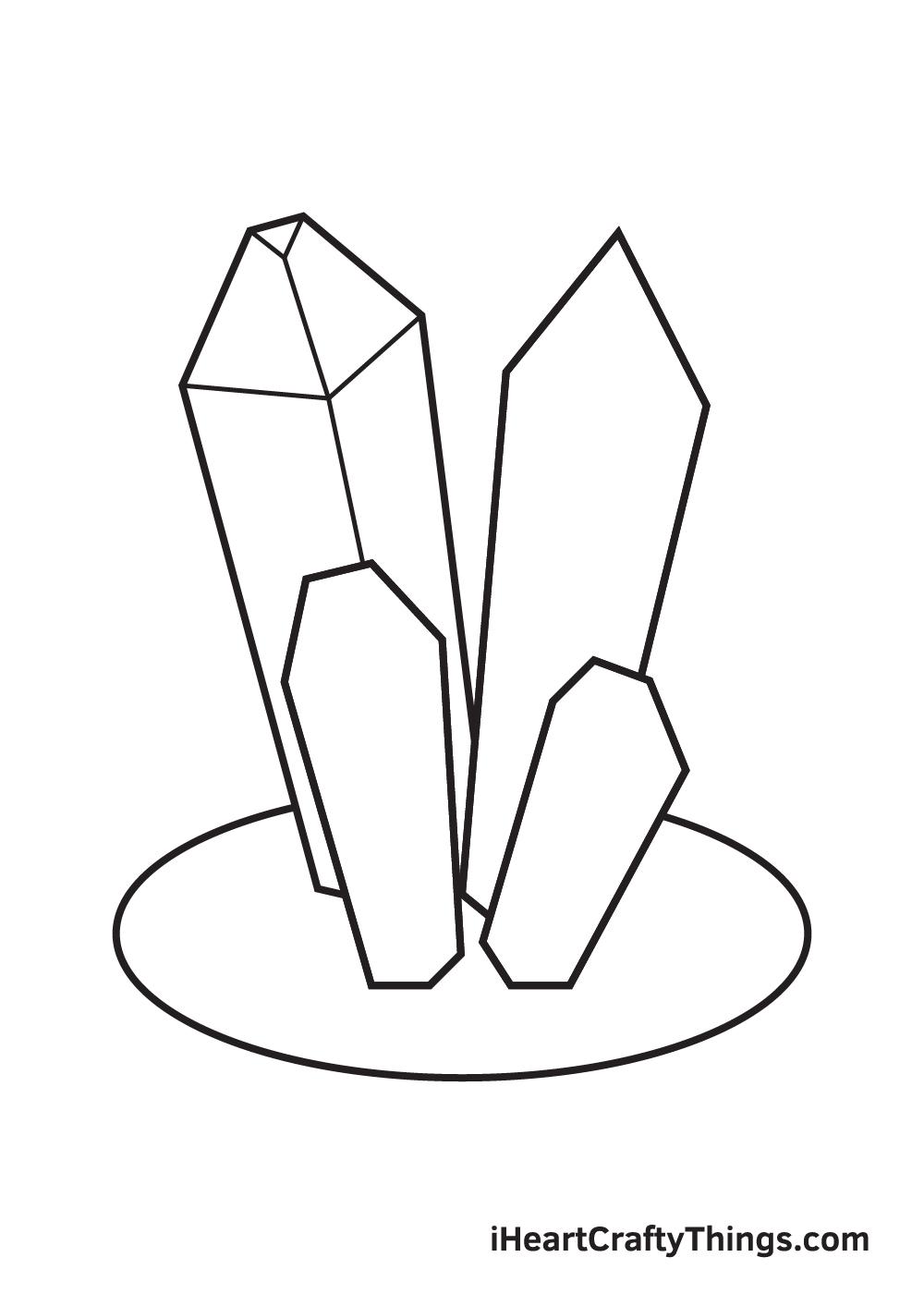 crystals drawing step 6
