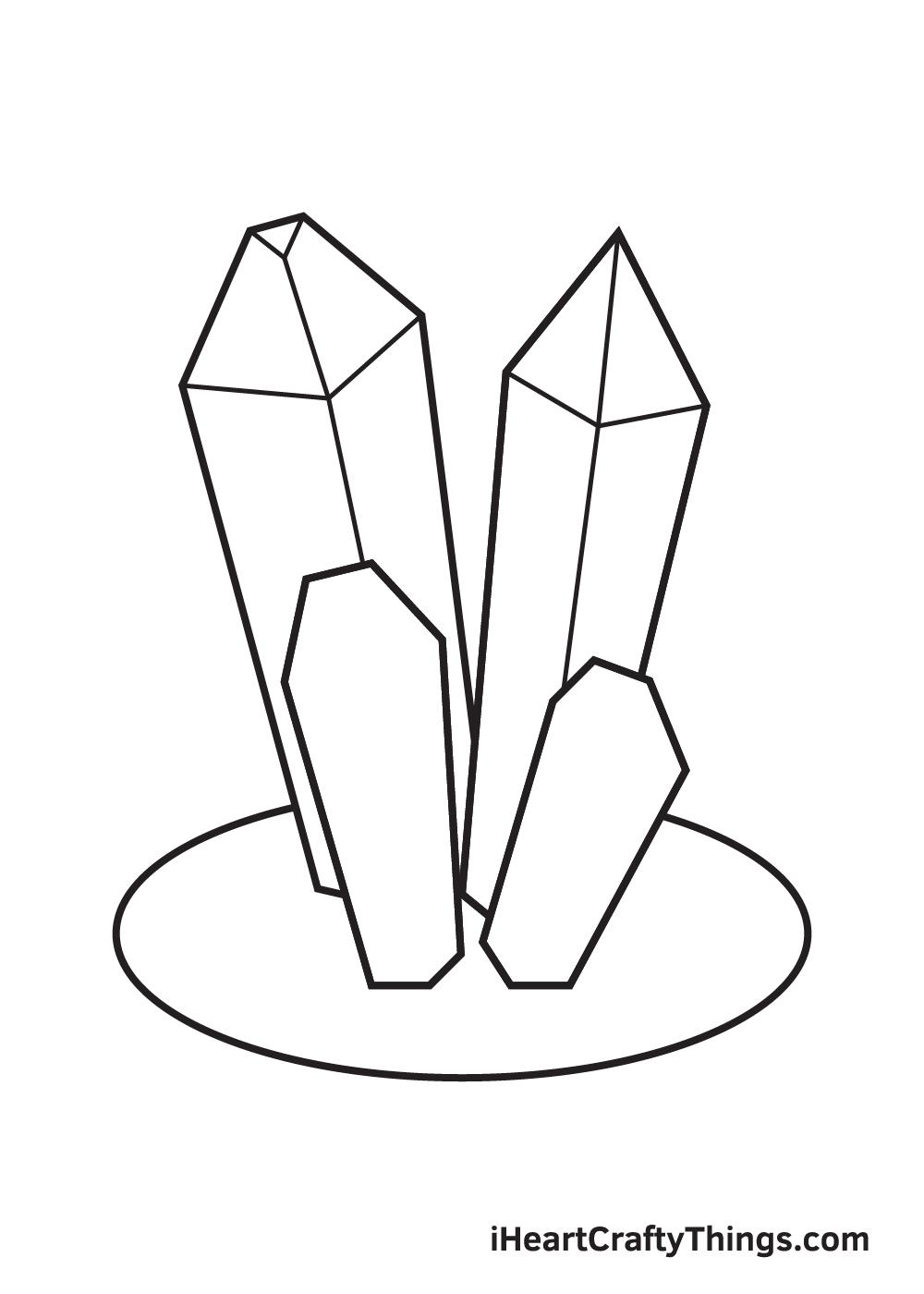 crystals drawing step 7