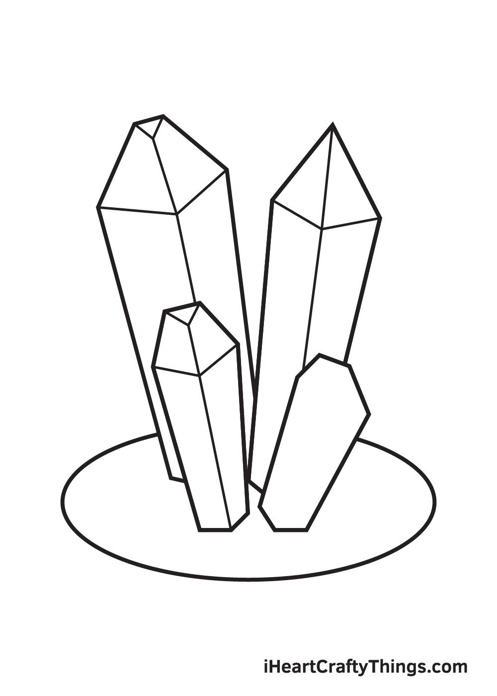 crystals drawing step 8