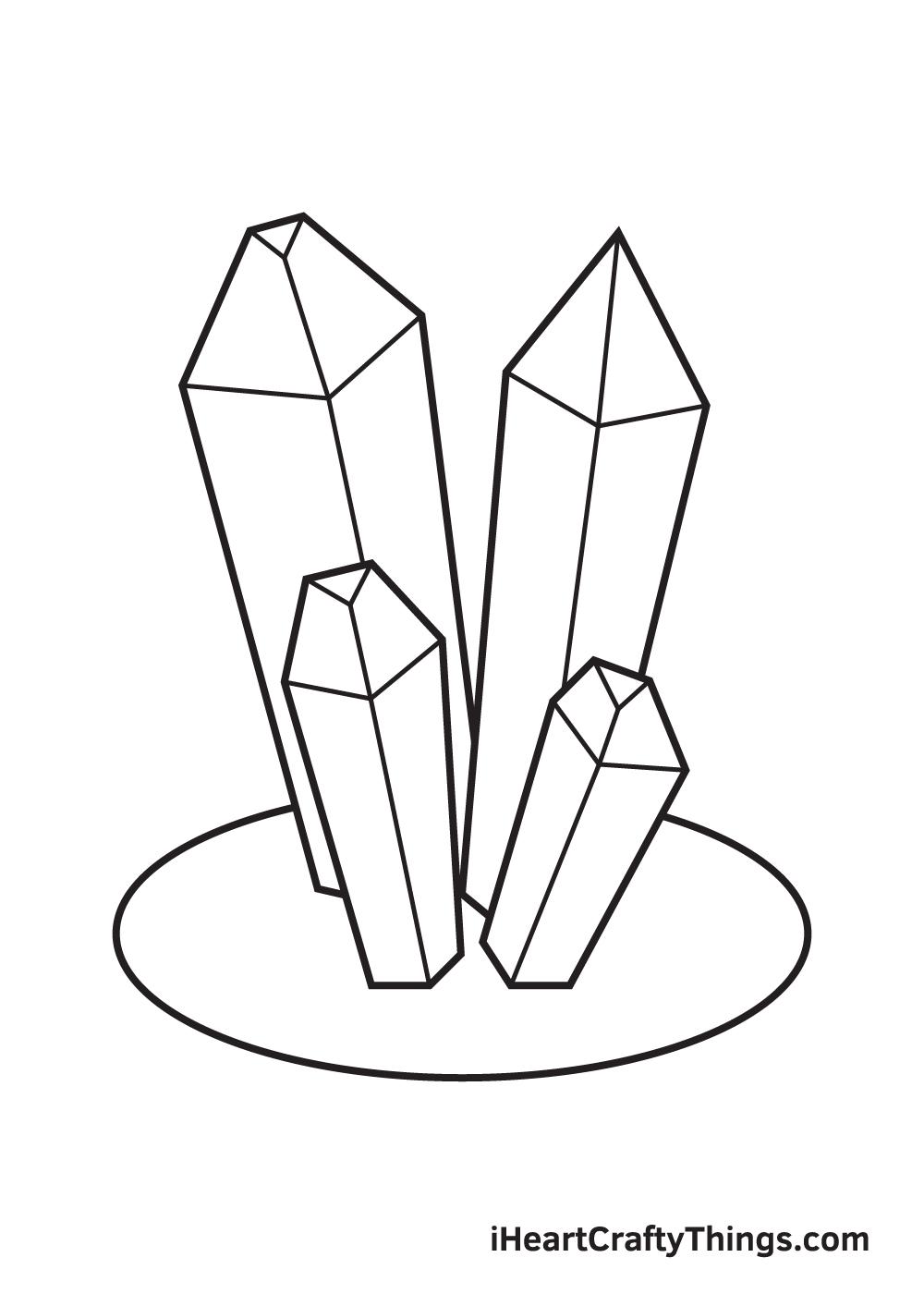 crystals drawing step 9