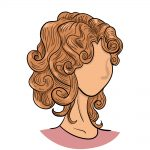 curly hair drawing image