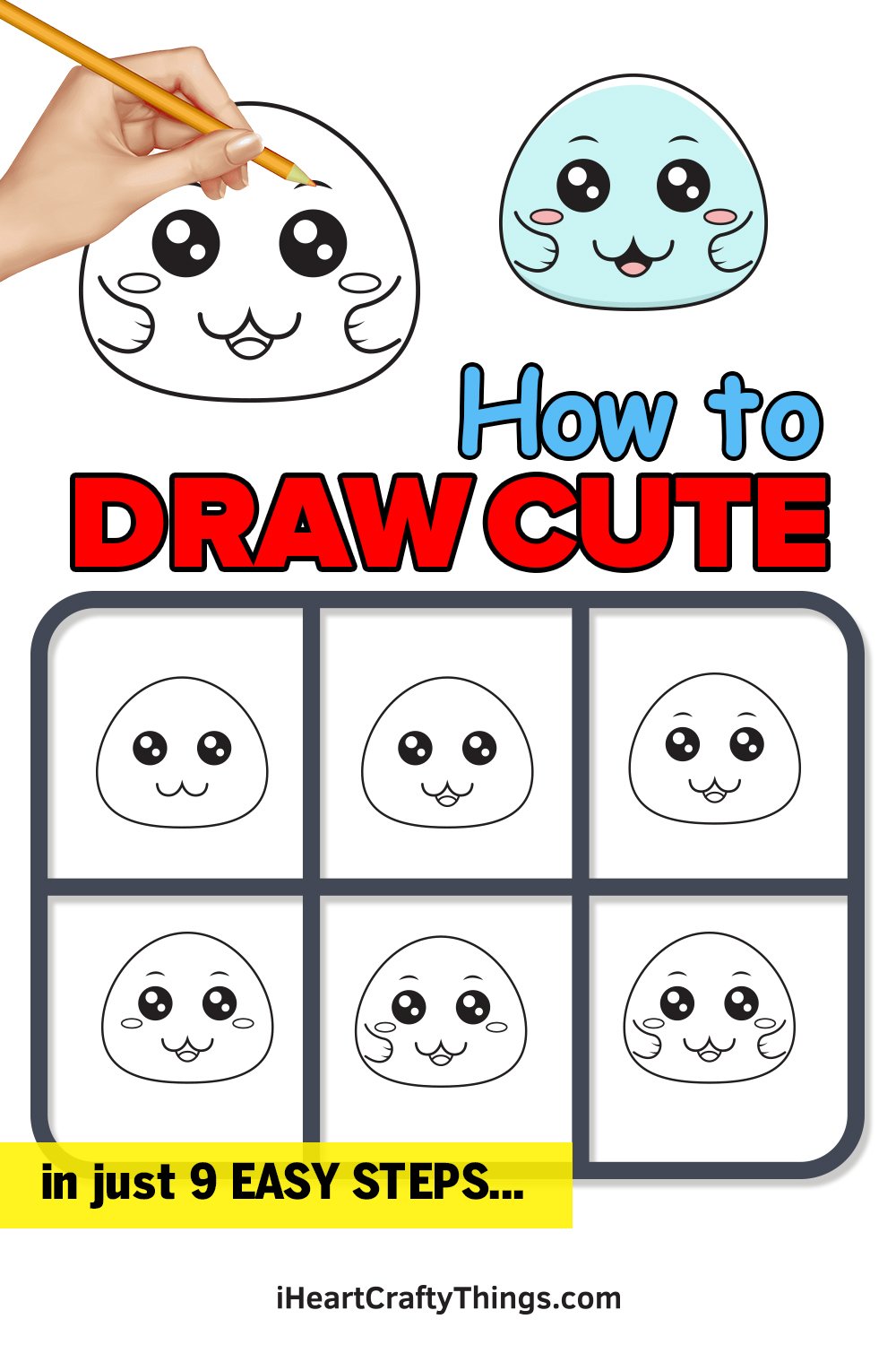 how to draw cute in 9 easy steps