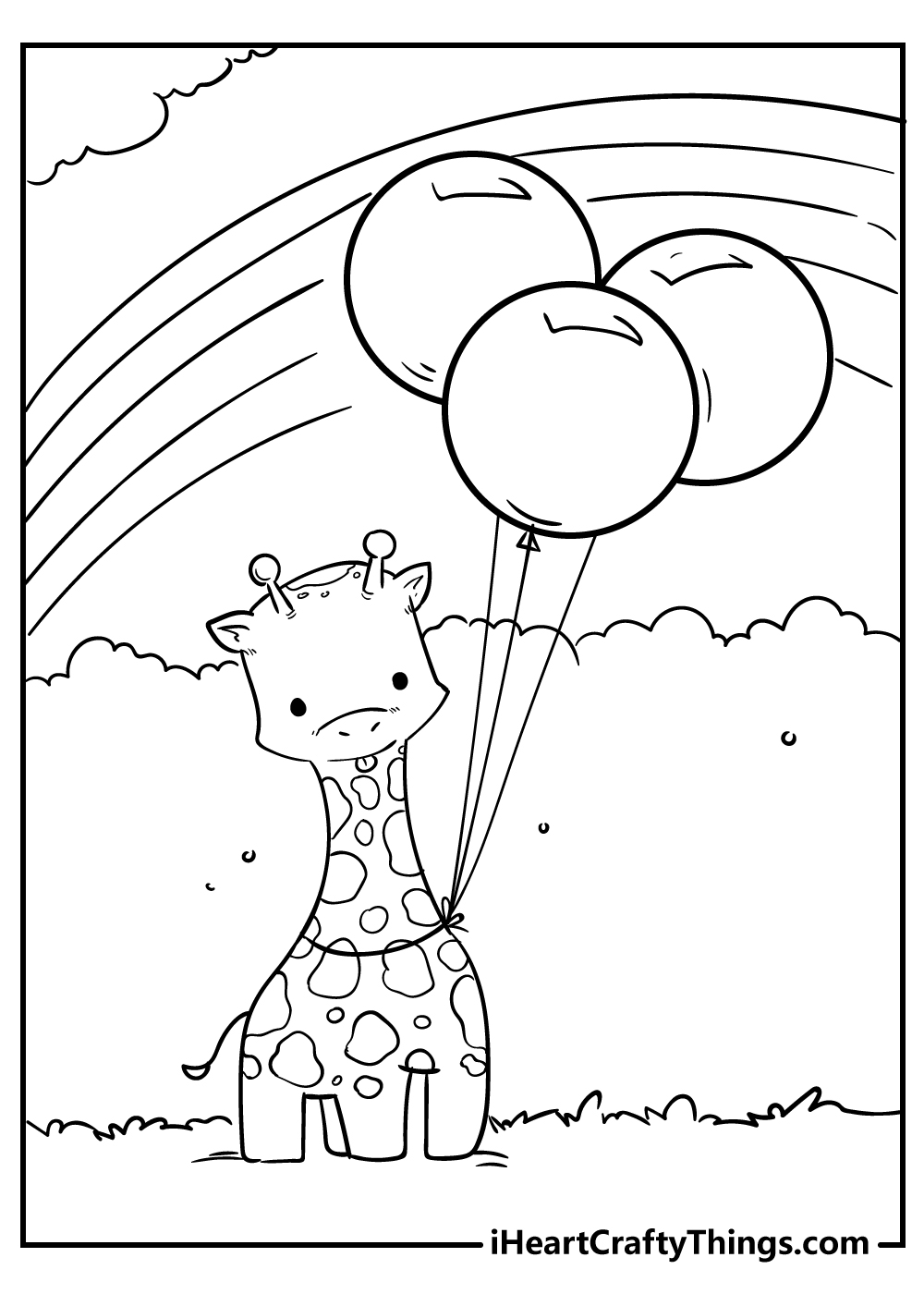 cute little giraffe coloring pages free printable