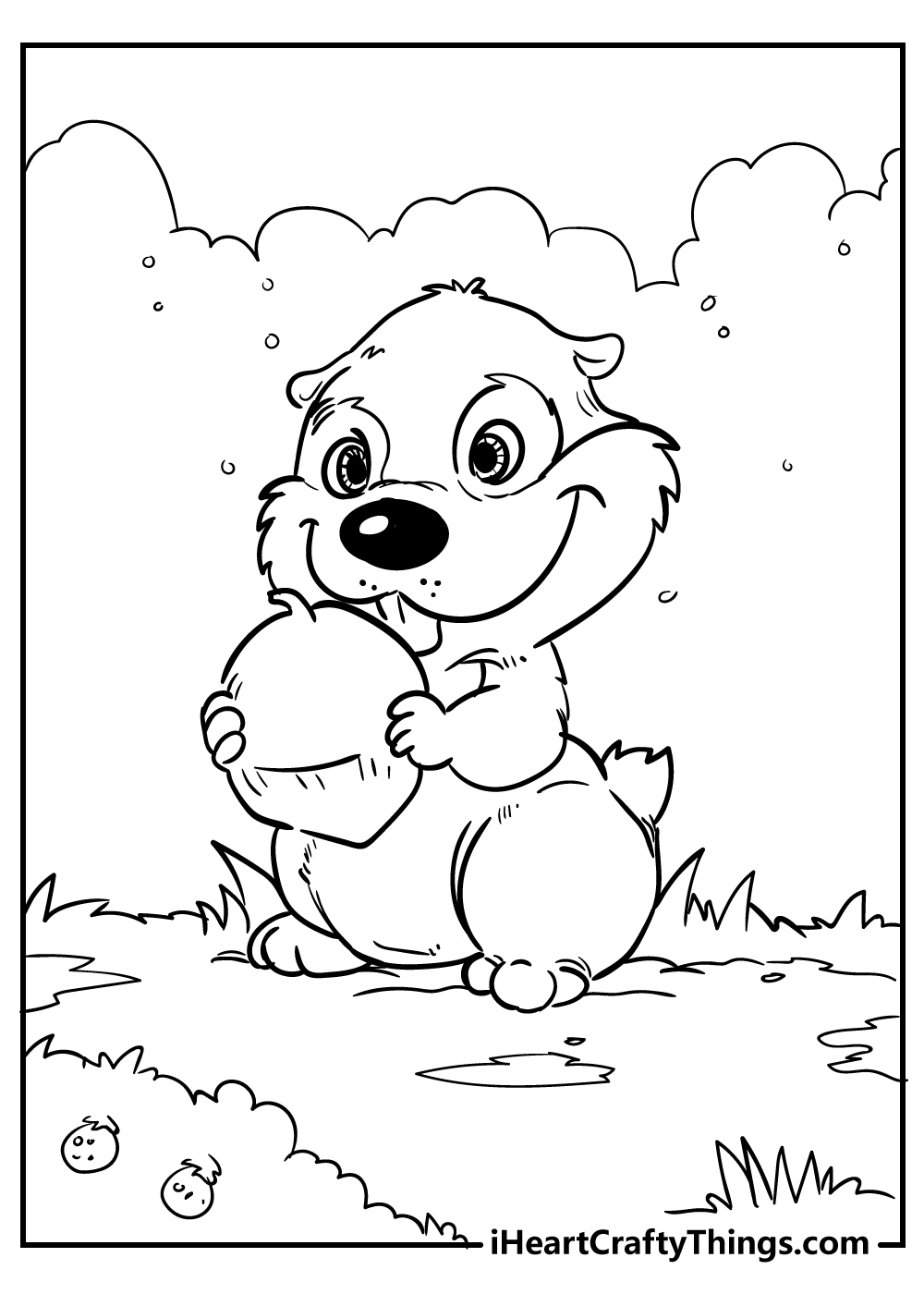 cute little chipmunk coloring pages free printable