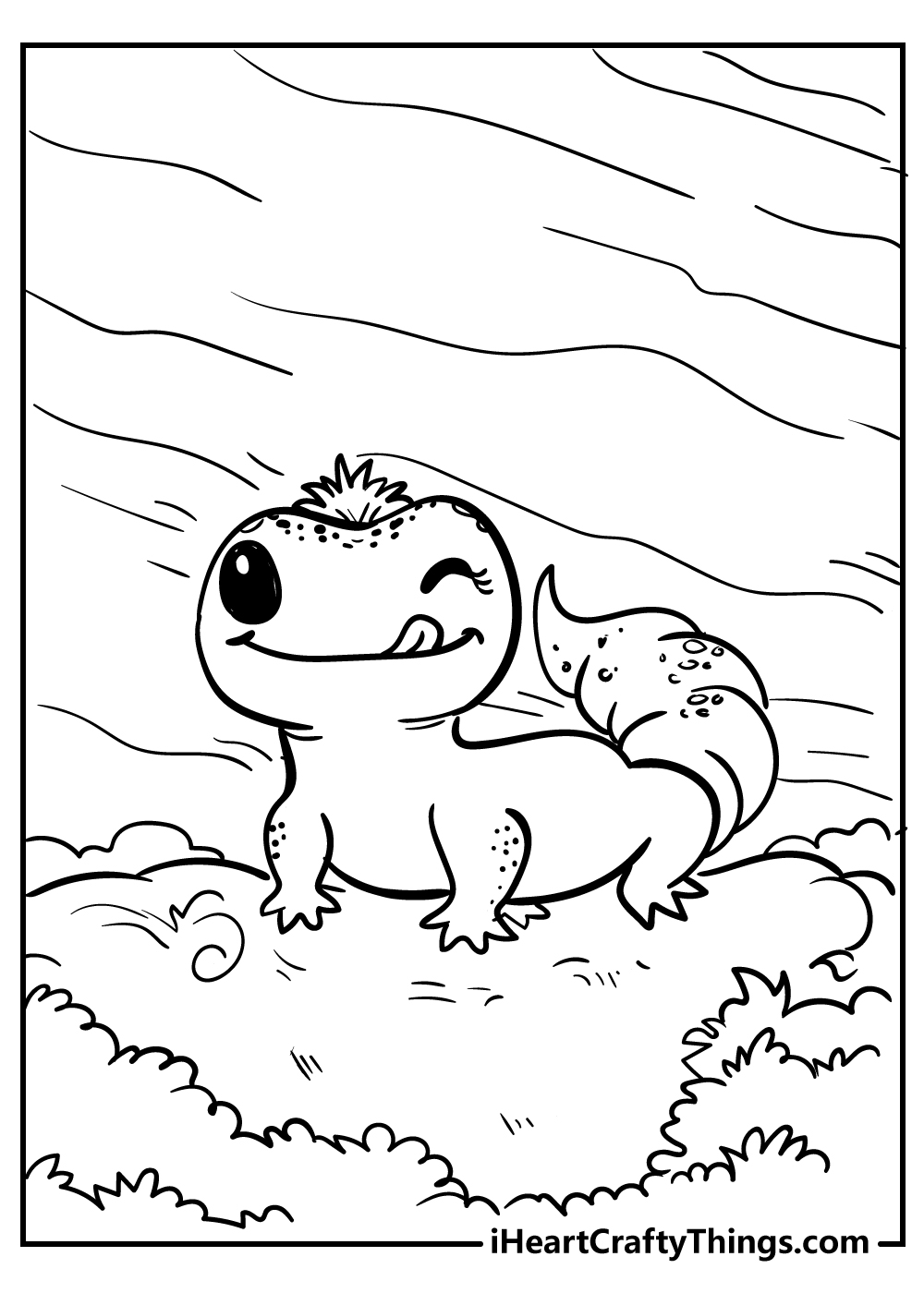 cute little lizard coloring pages free download