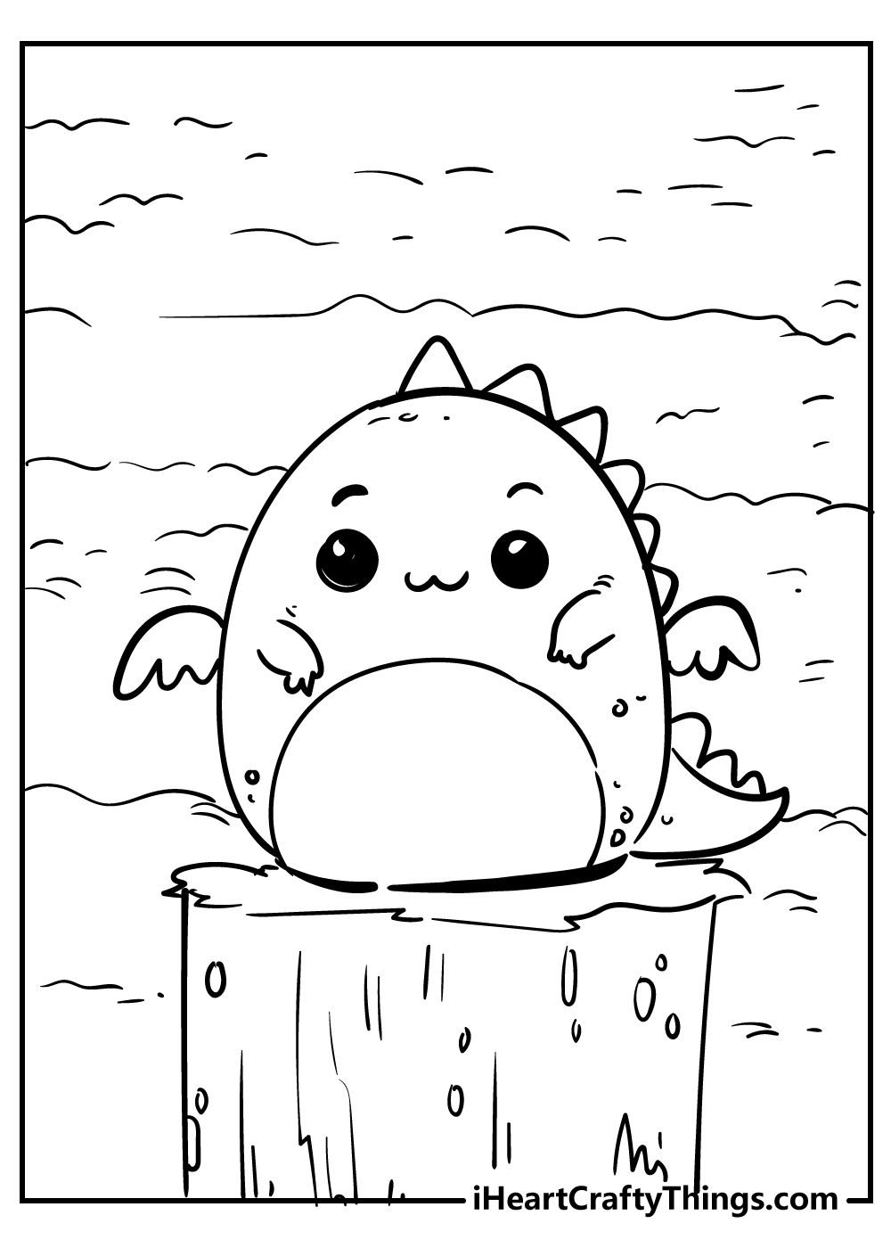 cute little dragon coloring pages free download