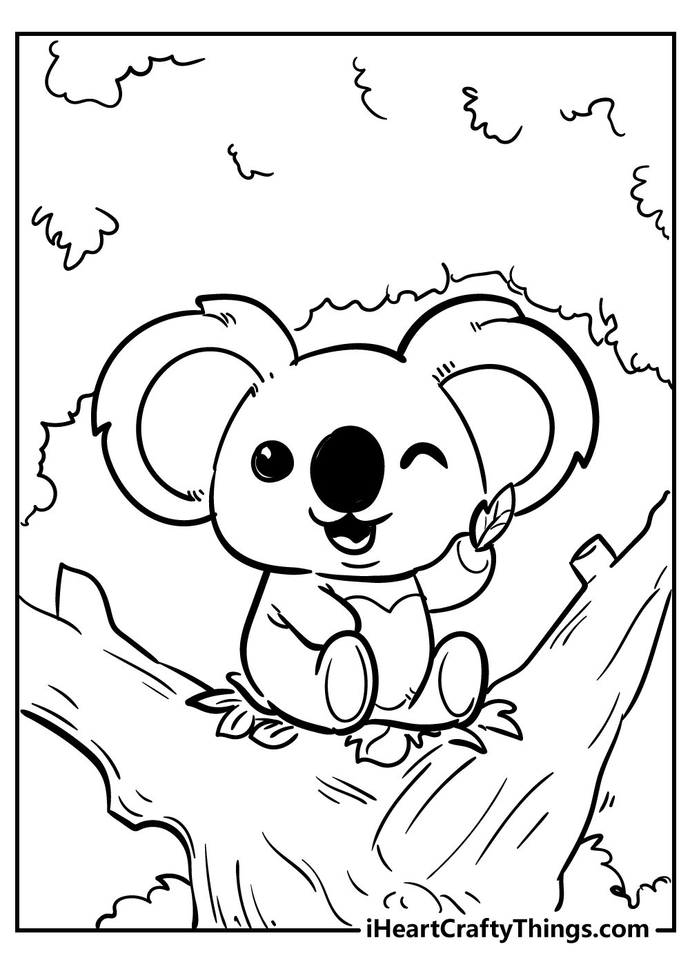 cute little koala coloring pages free print out