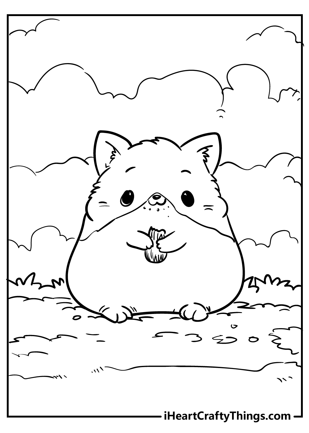cute little rodent coloring pages free downloads