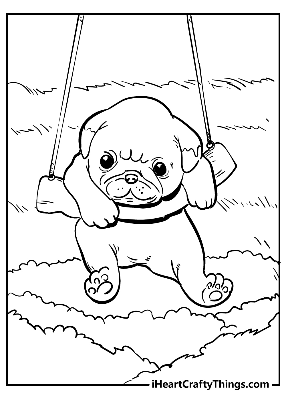 cute puppy coloring pages free download