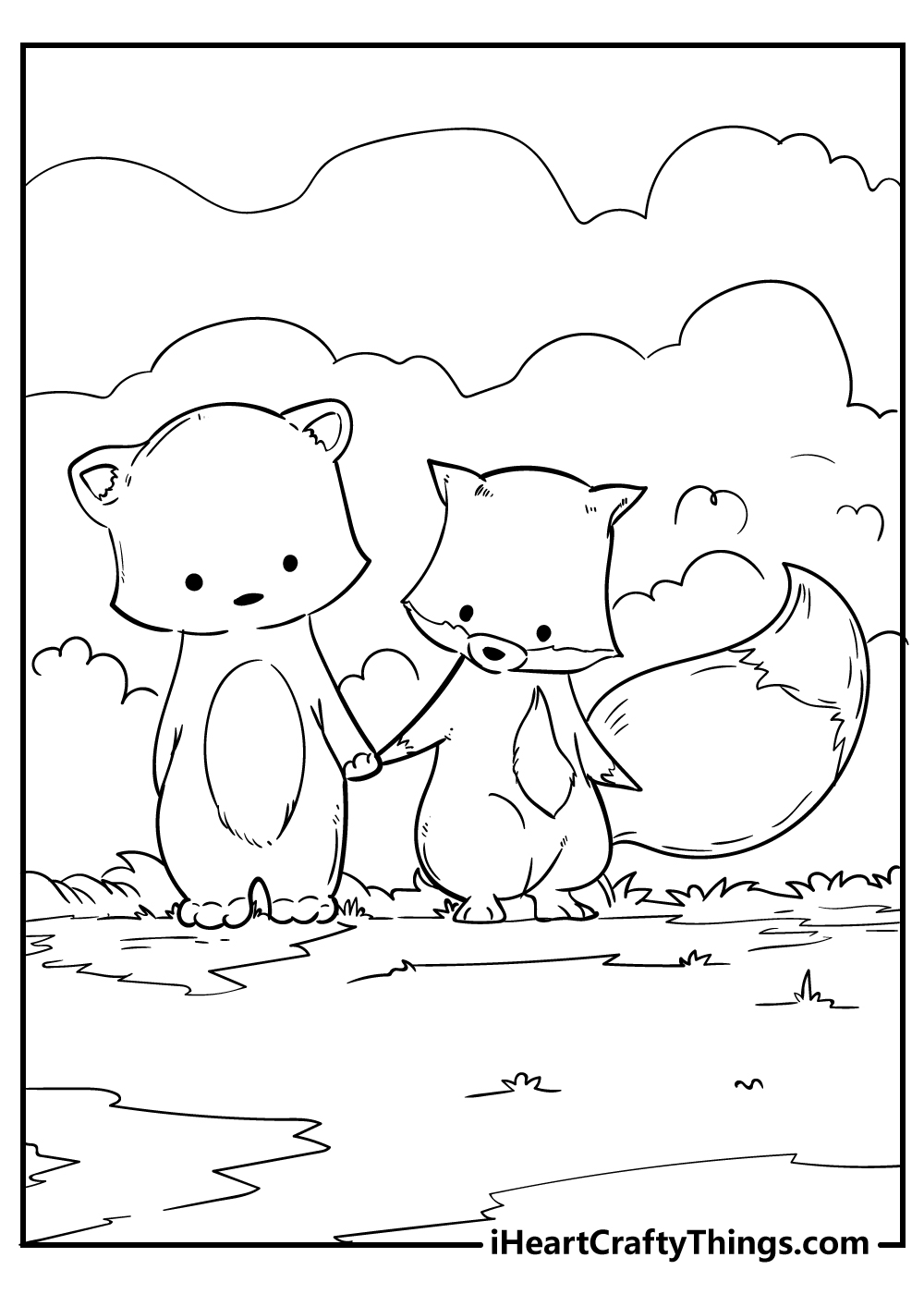 cute little fox coloring pages free download