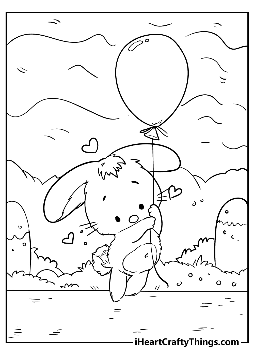 cute little bunny coloring pages free download