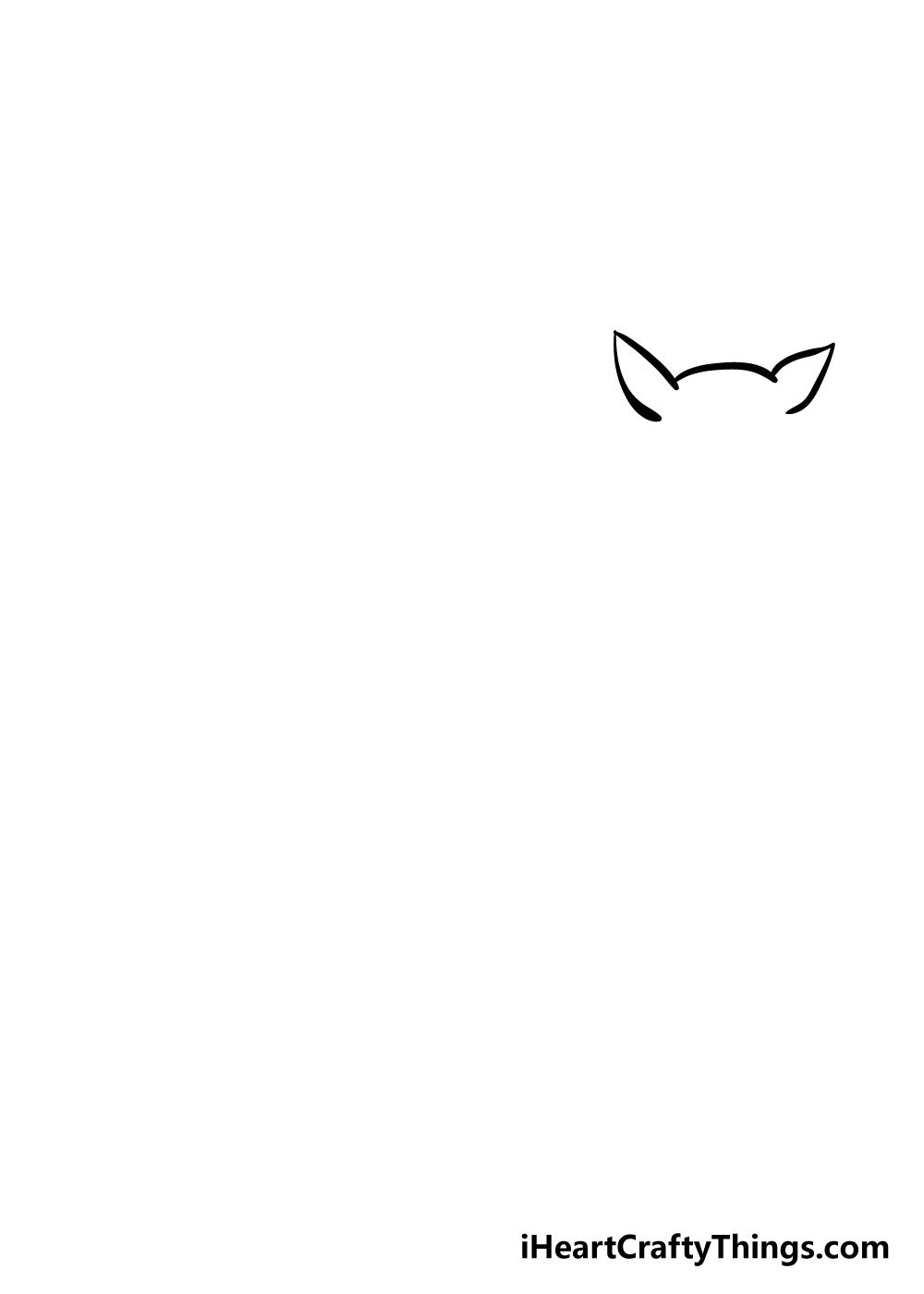 drawing deer step 1