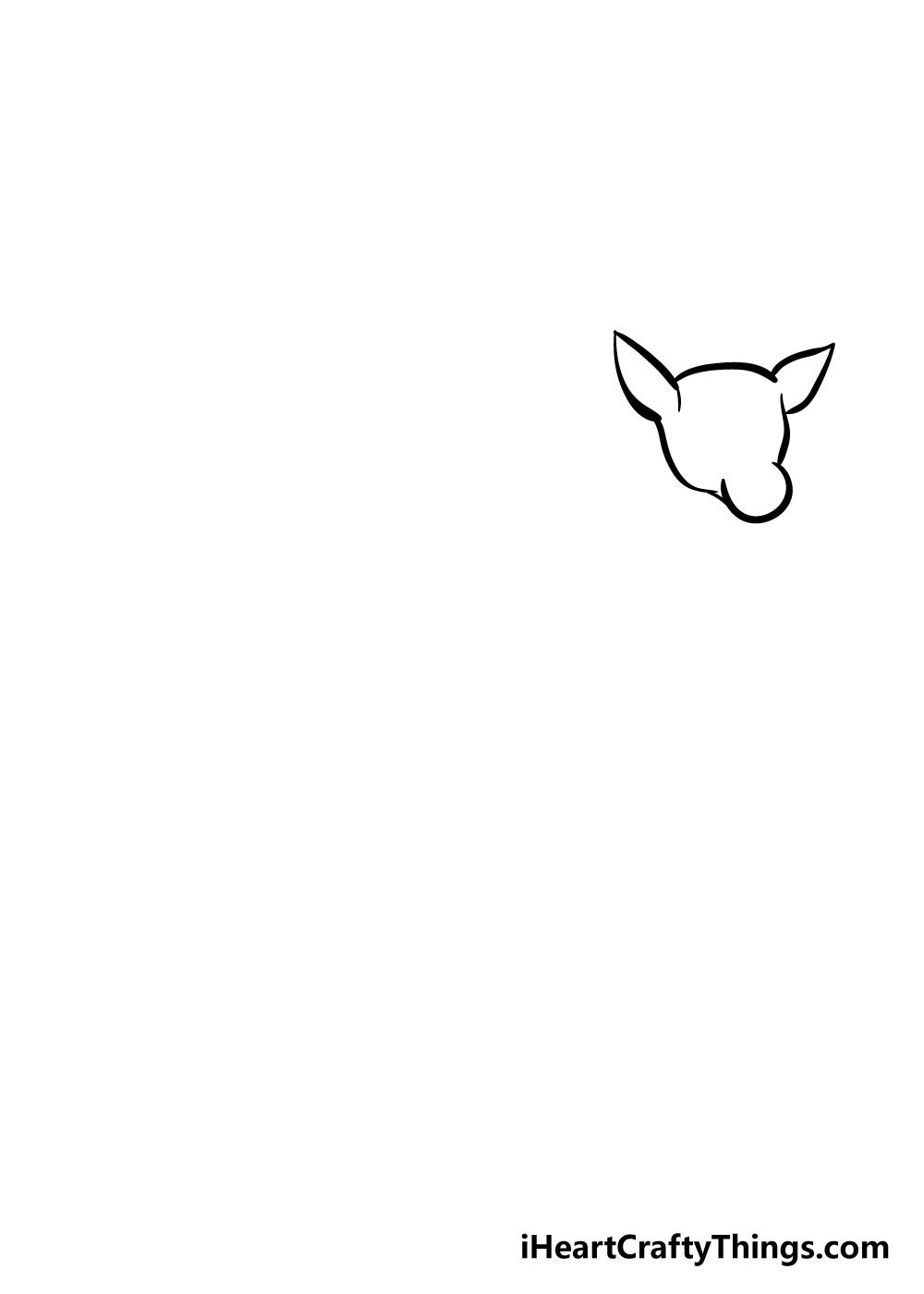 drawing deer step 2
