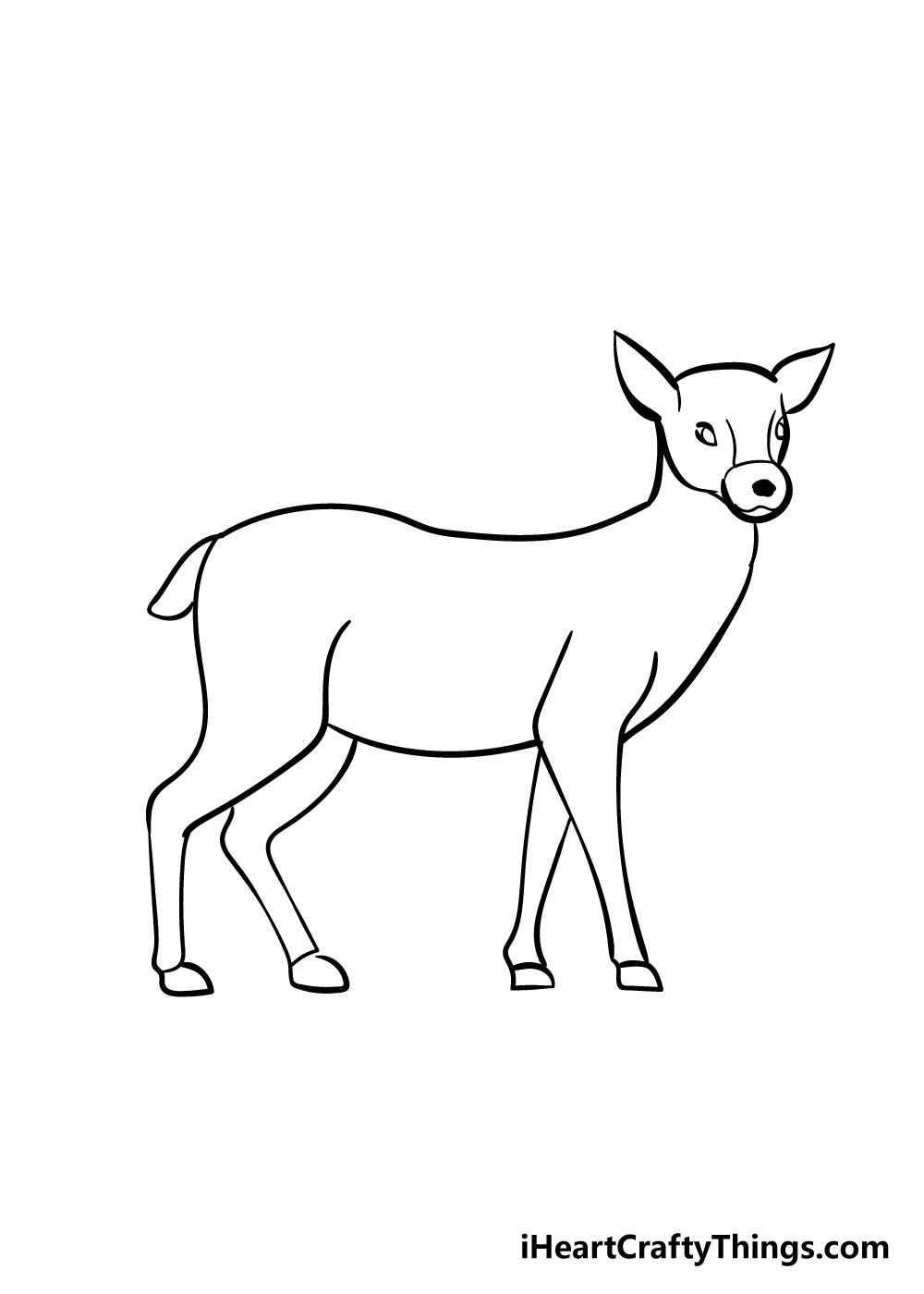 drawing deer step 6