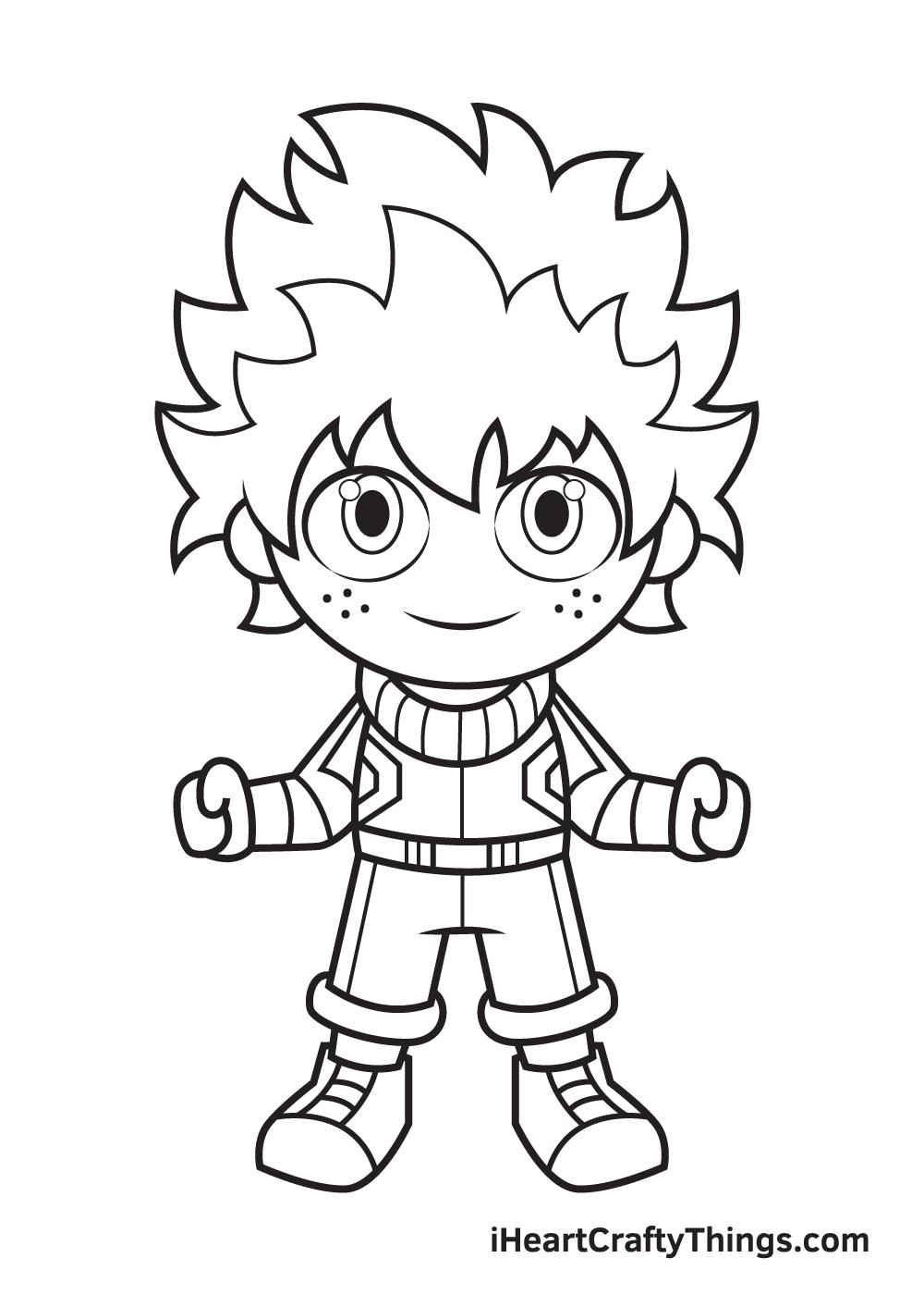 deku drawing step 9
