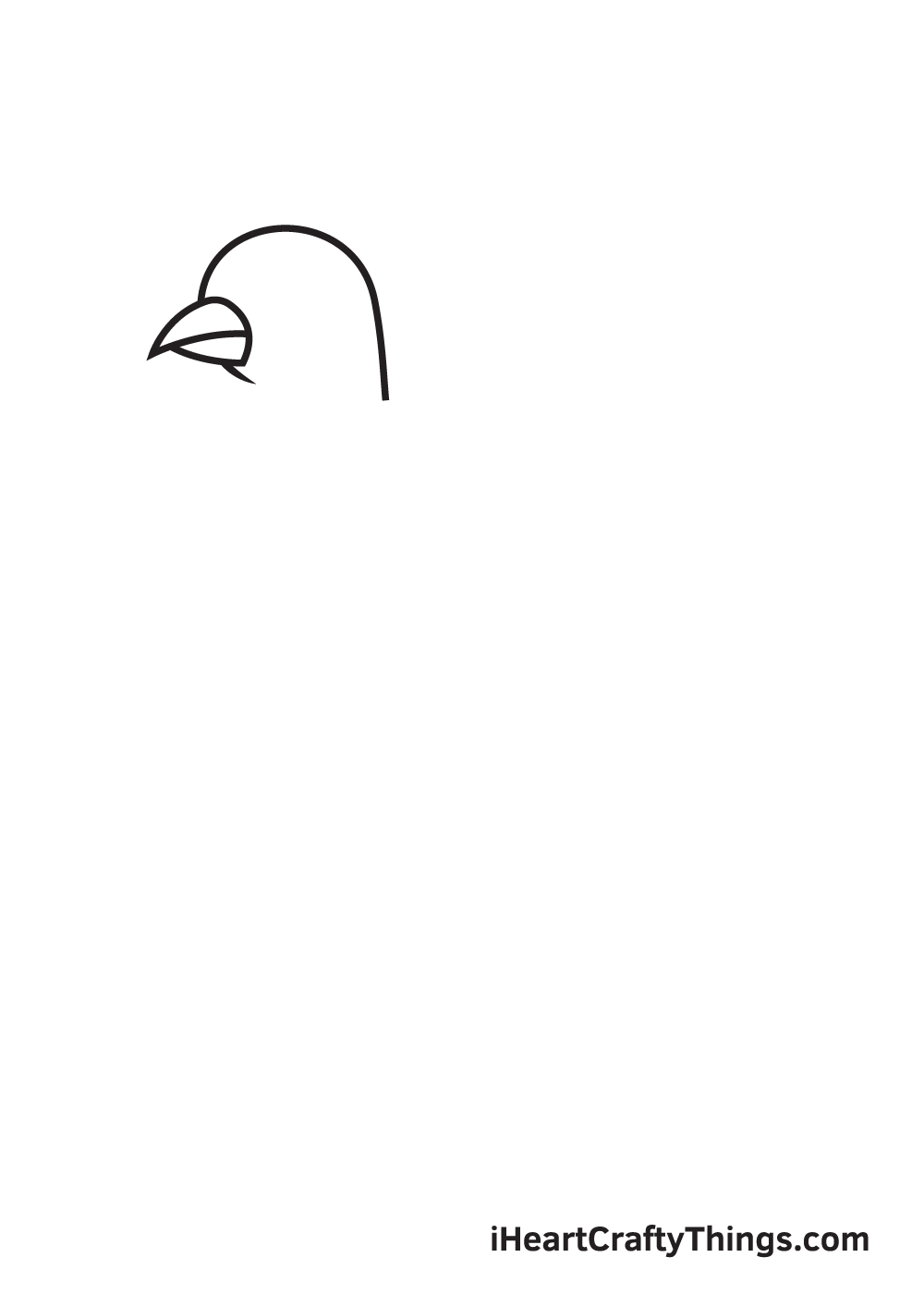 dove drawing step 2