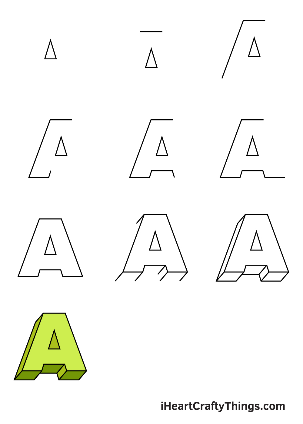 drawing 3D letters in 9 easy steps