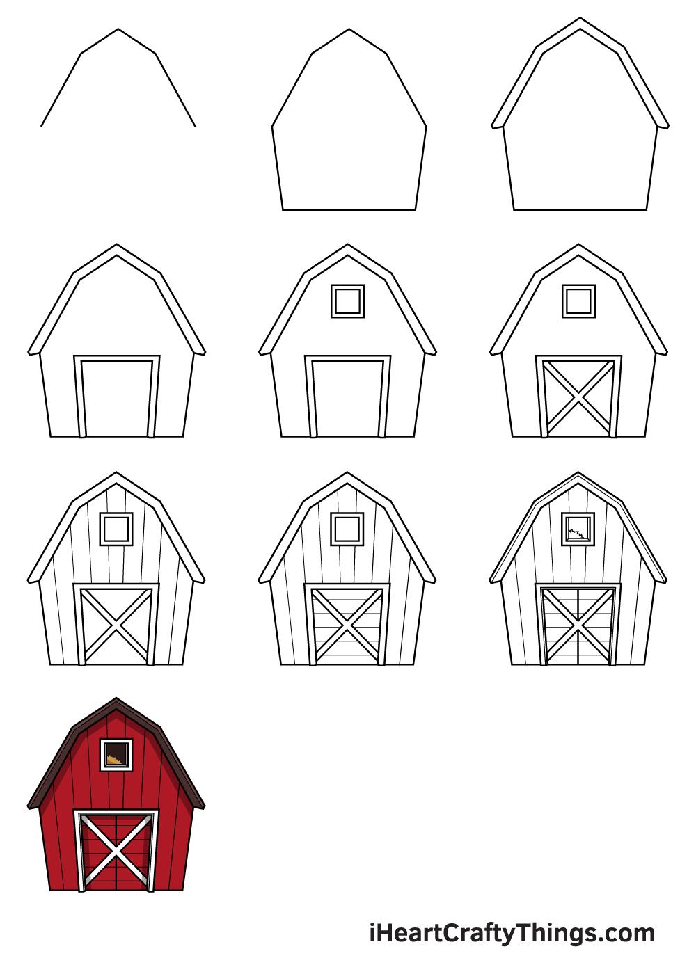 drawing barn in 9 easy steps