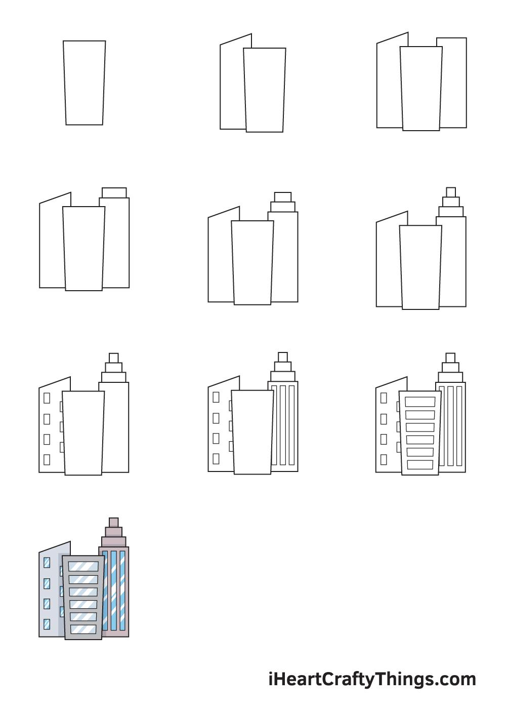 drawing buildings in 9 steps