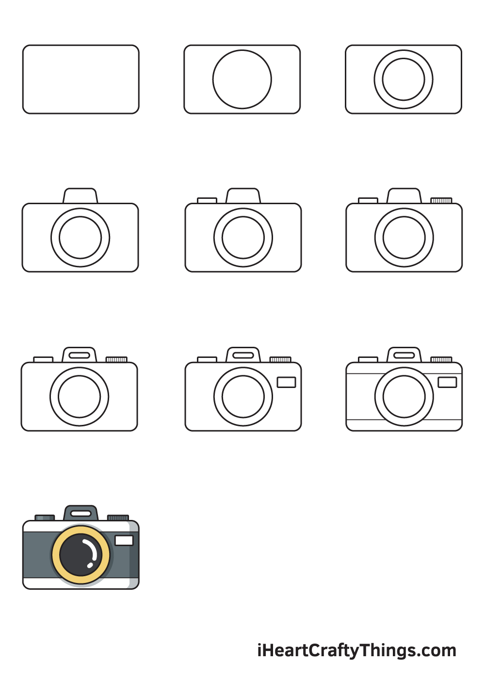 drawing camera in 9 easy steps