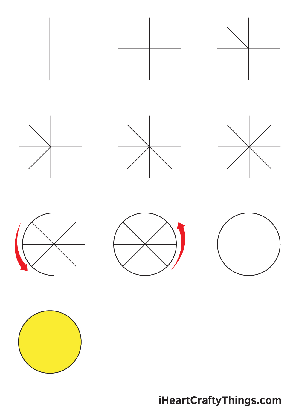 drawing circle in 9 easy steps