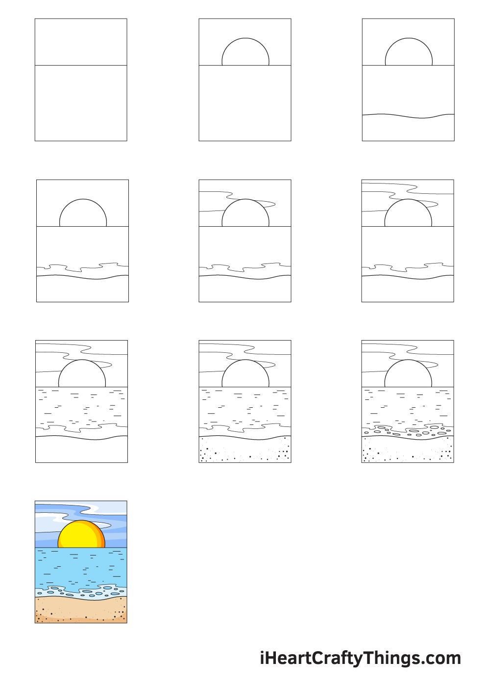 drawing ocean in 9 easy steps