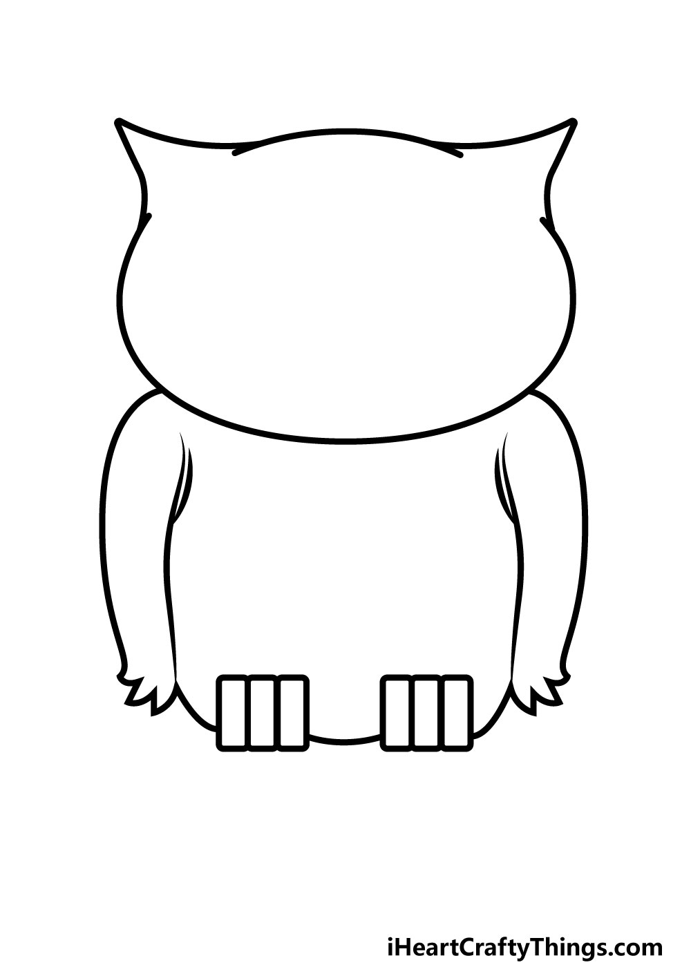 owl drawing step 6