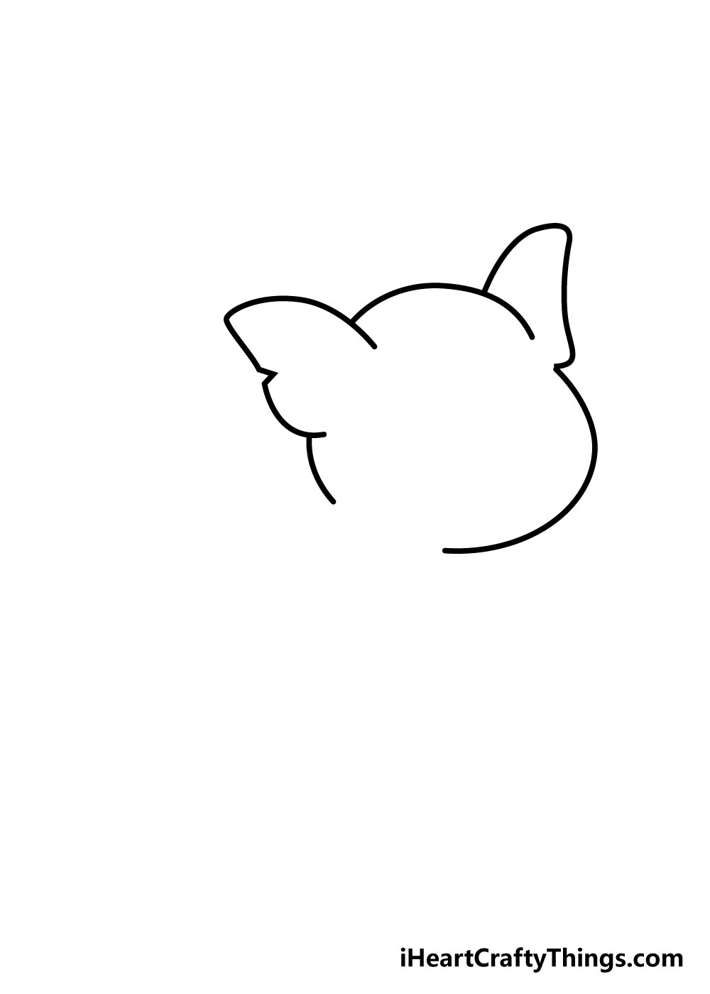 pig drawing step 2