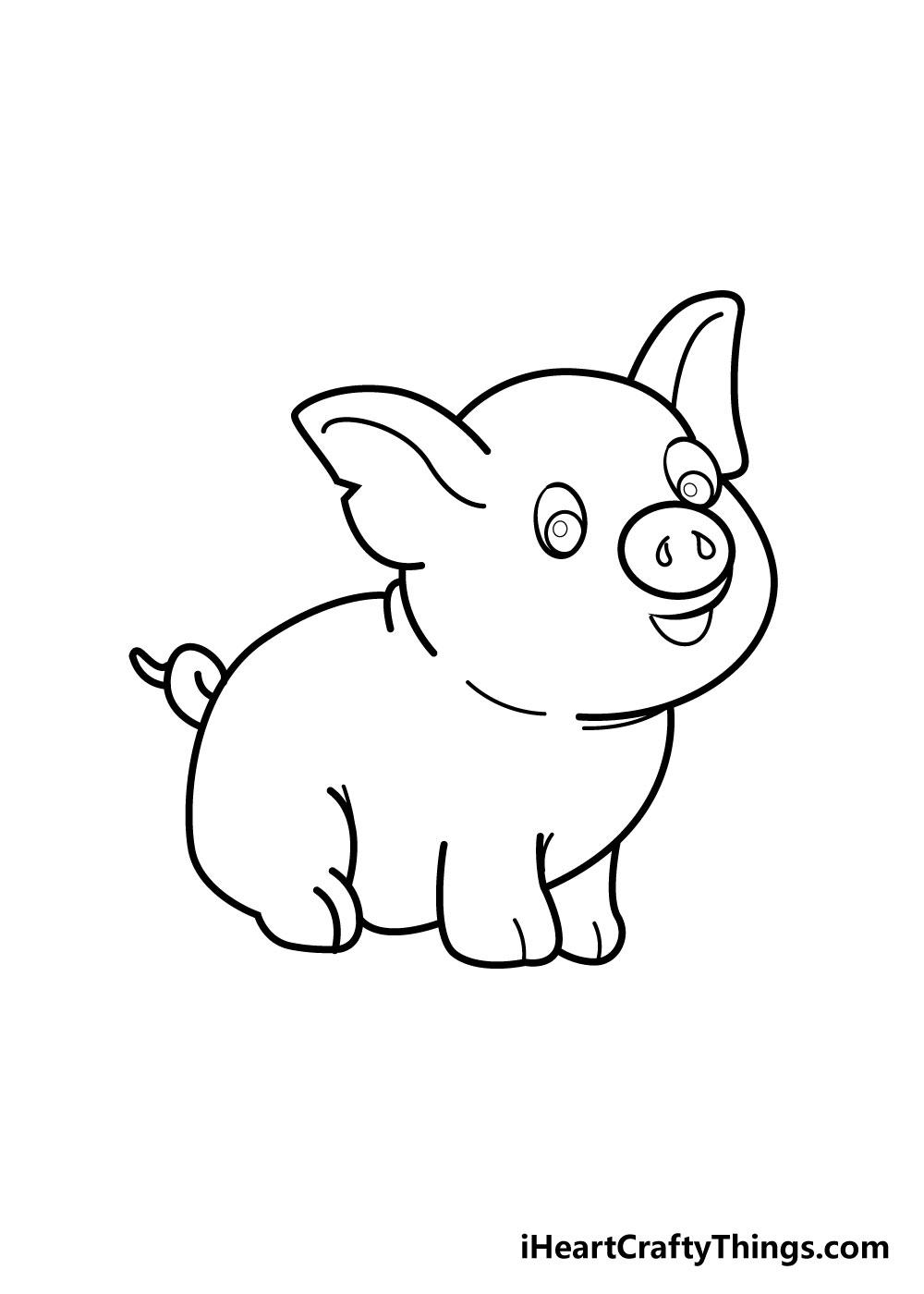 pig drawing step 5